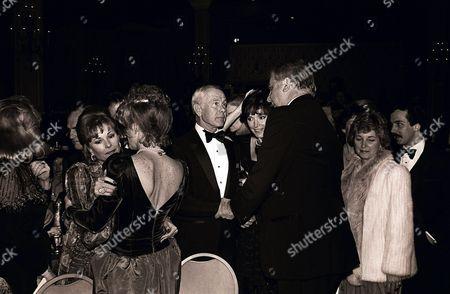 Ginny Newhart, Victoria Valentine, Johnny Carson, Joanna Holland and Ed McMahon