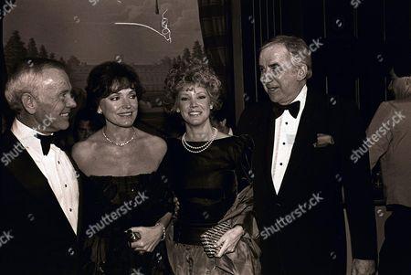 Johnny Carson, Joanna Holland, Victoria Valentine and Ed McMahon