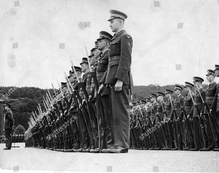 Apprentices On Parade Ground Waiting To Be Inspected By Chief Marshal Sir John Steel At Halton School Of Technical Training.