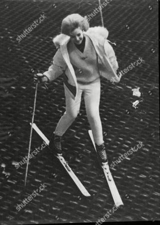 June Thorburn On The Pindisports Ski Slope At Balham In Preparation For Her Norwegian Holiday