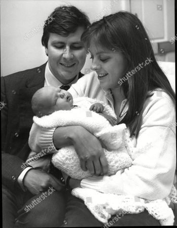 Editorial picture of Earl Of Arundel (edward William Fitzalan-howard 18th Duke Of Norfolk) With Wife Georgina And 4 Day Old Henry Miles Fitzalan-howard (now Earl Of Arunde)l (b 3/12/1987)