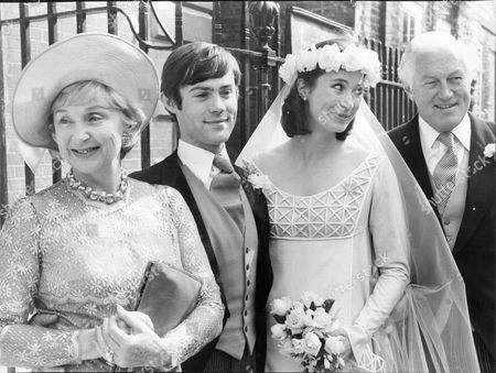 Googie Withers And Husband John Mccallum Actors At Wedding Of Their Daughter Joanna Mccallum To Roger Davenport 1978.