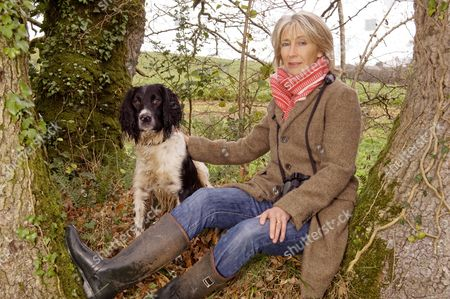 Stock Photo of Lady Jane Rice with her dog Fox