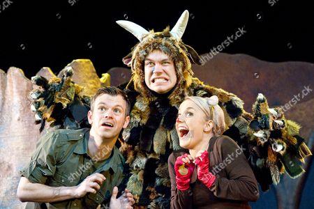 'The Gruffalo' - Timothy Richey as Predators/Narrator, Owen Guerin as The Gruffalo and Josie Cerise as Mouse