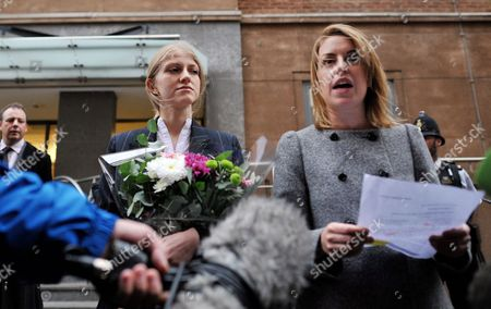 Stock Picture of Ekaterina Zatuliveter with lawyer Tessa Gordon