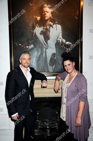 Fifi Geldof with a painting of Bob Geldof