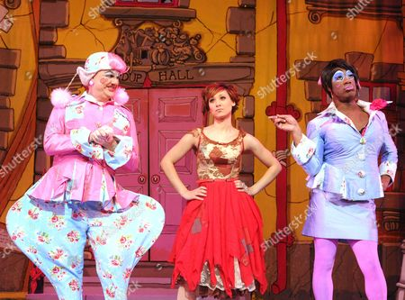 'Cinderella' - Tony Whittle as An Ugly Sister, Sophia Ragavelas as Cinderella and Kat B as An Ugly Sister,