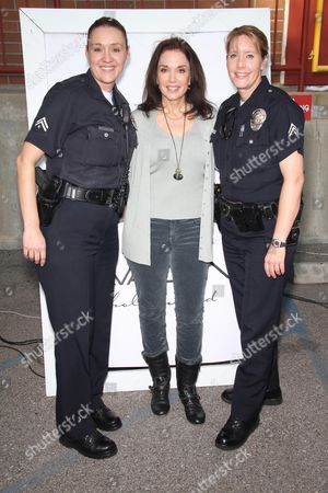 Stepfanie Kramer and LAPD Officers