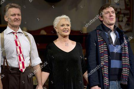 Neil McCaul (Eddie/Robert/John), Sharon Gless (Jane Juska) and Michael Thomson (Graham/Andy)