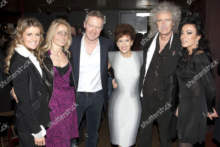 Erin Boag, Tessa Campbell Fraser, Rory Bremner, Anita Dobson, Brian May and Nancy Dell'Olio