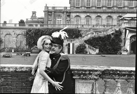 Actress Julie Newmar And Actor Zero Mostel Filming At Cliveden House