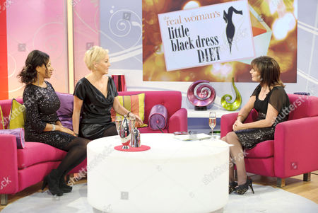 Helen DeMacque and Shirlie with Presenter Lorraine Kelly