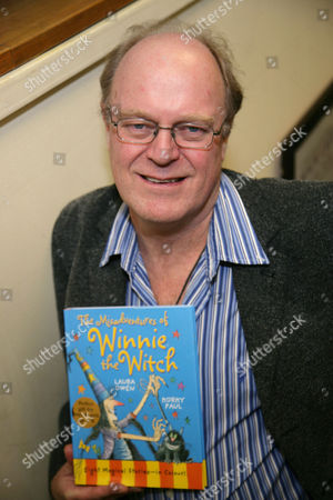 Korky Paul with his book 'The Misadventures of Winnie The Witch'