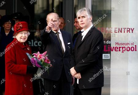 Queen Elizabeth II, Prince Philip and Phil Redmond