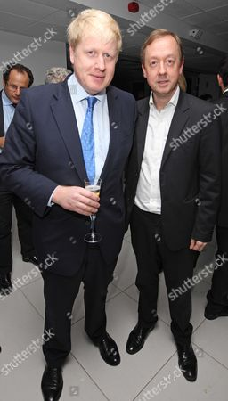 Mayor Boris Johnson And Geordie Grieg. The Evening Standard Party For London's 1000 Most Influential. Picture By: Nigel Howard Mobile + 44 (0) 7831 235235 Email: Nigelhowardmediaatgmail.com