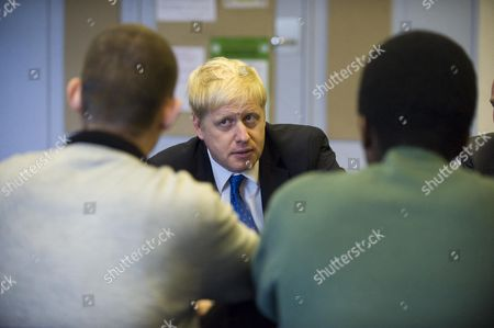 The Mayor For London Boris Johnson And Minister For Policing And Criminal Justice Nick Herbert Visit The Heron Unit At Feltham Young Offenders Institution To Mark Its First Anniversary And Talking With Young People About Their Experiences. Picture By Glenn Copus