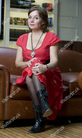 Stock Photo of Kathy Clark In Falmouth Cornwall. Femail Special On Kathy Clark Kathy Is The Lovechild Of The Late David Budworth Who Is The Husband Of Lady Magazine Owner Julia Budworth.