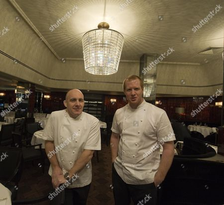 Stock Image of The Newly Refurbish Savoy Grill Now Part Of Gordon Ramsay's Chain. Stuart Gillies Chef Director (l) And Andy Cook Head Chef Picture By Glenn Copus