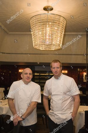 Editorial photo of The Newly Refurbish Savoy Grill Now Part Of Gordon Ramsay's Chain. Stuart Gillies Chef Director (l) And Andy Cook Head Chef Picture By Glenn Copus