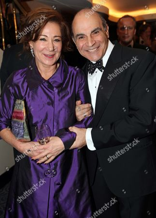 Editorial photo of David Suchet With Zoe Wannamaker At Es Theatre Awards At The Savoy London