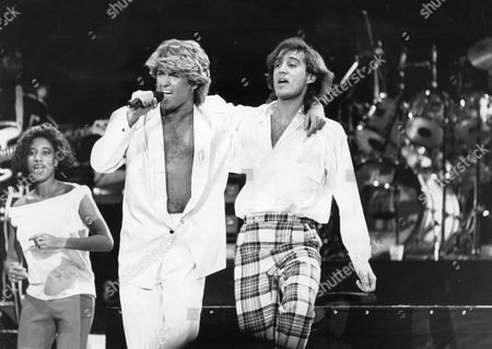 Wham - Live In Concert In Peking China. George Michael And Andrew Ridgley From The Pop Group Wham!