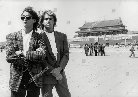 Wham In China. George Michael And Andrew Ridgley From The Pop Group Wham!