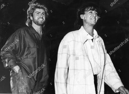 Wham At Ivor Novello Awards 1985. Andrew Ridgley And George Michael Of Pop Group Wham!