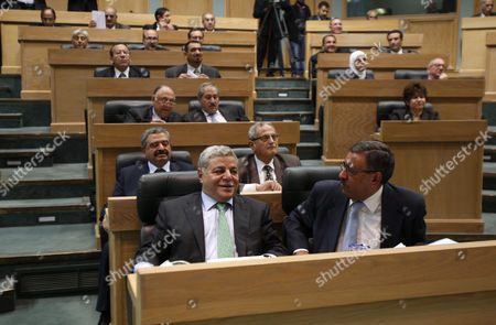 Editorial photo of Prime Minister Awn Khasawneh wins vote of confidence at parliament, Amman, Jordan - 01 Dec 2011