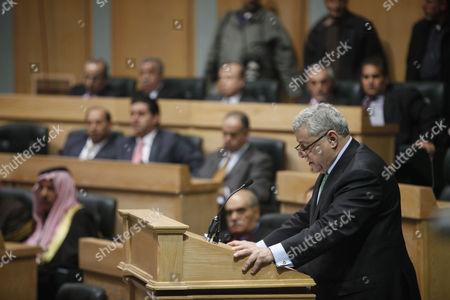 Stock Picture of Jordanian Prime Minister Awn Shawkat Al-Khasawneh