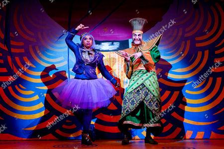 'Aladdin' - Sophia Nomvete as Ringo and Simon Kunz as Abanazer