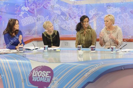 Andrea McLean, Lisa Maxwell with Pepsi and Shirlie - Helen DeMacque and Shirlie Holliman