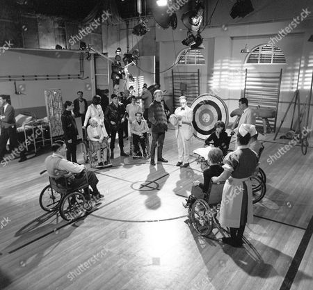 Behind the scenes. Philip Locke and Eric Portman