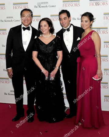 Stock Picture of (Left to right) Yo-Yo Ma, Jill Hornor Ma, Nicholas and Emily Ma