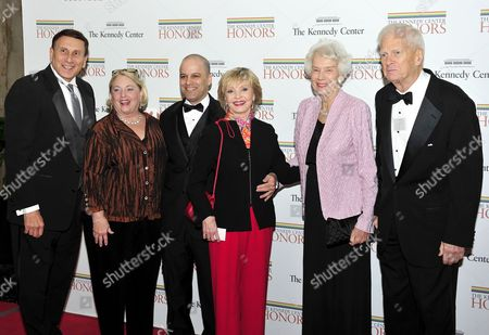 From left to right: United States Representative John Mica (Republican of Florida), wife, Patricia, Robert Bernstein, Florence Henderson, Marjorie Billington, and James H. Billington, the Librarian of Congress