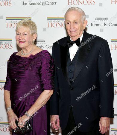 "Stock Image of John Willard ""Bill"" Marriott, Jr., Chairman and CEO of Marriott International, and his wife, Donna Garff"