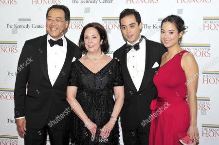 (Left to right) Yo-Yo Ma, Jill Hornor Ma, son Nicholas and daughter Emily Ma