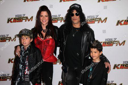 Slash, Perla Ferrar, and Family