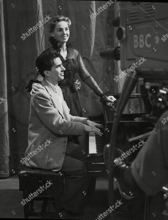 Actor Laurence Payne And Actress Carol Carr Rehearsing For The Bbc Television Programme The Novello Story