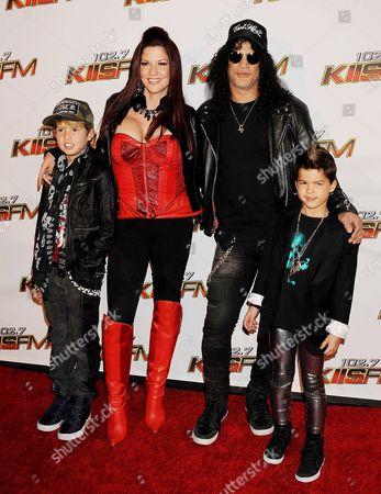 Slash, Perla Ferrar and Family