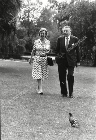 Stock Picture of Francis Pym Conservative Mp And His Wife Valerie