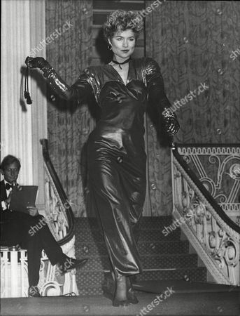 Stock Picture of Baroness Isabelle Van Randwyck Also Known As Izzy At Nspcc Fashion Show. Izzy On The Catwalk Before Singing With Her Band Called Sweatband.