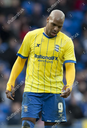 Marlon King of Birmingham City shows a look of dejection