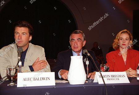 Alec Baldwin, Martin Bregman and Penelope Ann Miller
