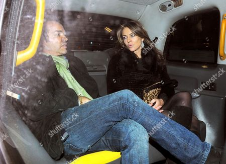 Henry Dent-Brocklehurst and Elizabeth Hurley