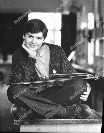 Lithuanian Julian Rachlin 14 With His Borrowed Violin At The Royal Opera House In London. He Is The Youngest Soloist To Play At The Venue.