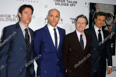 Peter Straughan, Mark Strong, Gary Oldman and Colin Firth