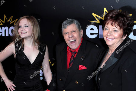 Jerry Lewis, wife SanDee Pitnick and daughter Danielle Sarah Lewis