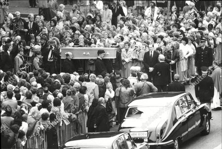 The Funeral Of Actress Pat Phoenix