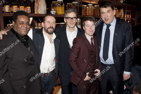 Clive Rowe (One Round), Ben Miller (Louis), Peter Capaldi (Professor Marcus), Stephen Wight (Harry Robinson) and Graham Linehan (Adaptation)