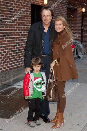 Kevin Nealon, Susan Yeagley and son Gable Ness